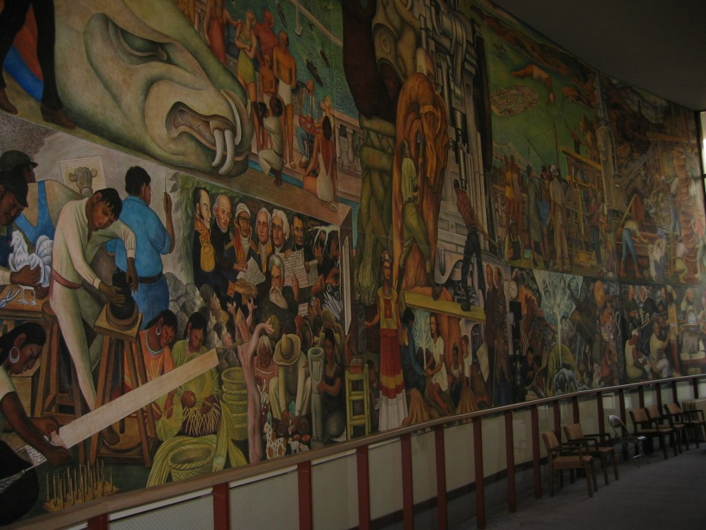 Denver international airport murals pirate4x4 com 4x4 for Diego rivera mural in san francisco