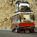 Rickety old buses from the pre-Soviet times still ply the roads of Afghanistan