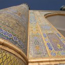 The intricate and extraordinarily well preserved tile work of the 15th century Timurid era Jama Mosque