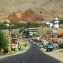 A newly paved highway heads north toward the Panjshir region, home of the famous warlord Ahmad Shah Masoud