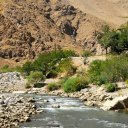 The Salang River carves through the southern edge of the Hindukush Mountains