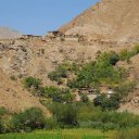 Farming villages in the mountainous regions of Northern Afghanistan make use of deep river valleys