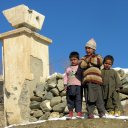 Bullet holes in walls and destroyed property are all these children have seen during their short lives
