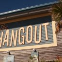 Entrance to the hip and fun, The Hangout Restaurant Gulf Shores