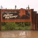 Sign indicating start of the famous Dalton Higway