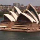 View of Sydney Opera House from Sydney Harbour Bridge