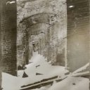 An image of Francesco Rastrelli's Golden Doorways in Catherine's Palace in ruins after WWII.