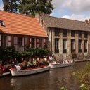 Picturesque Canals in Bruge