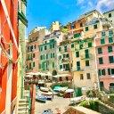 The colorful buildings of Riomaggiore in Cinque Terre, Italy