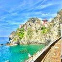 Train Ride in Cinque Terre