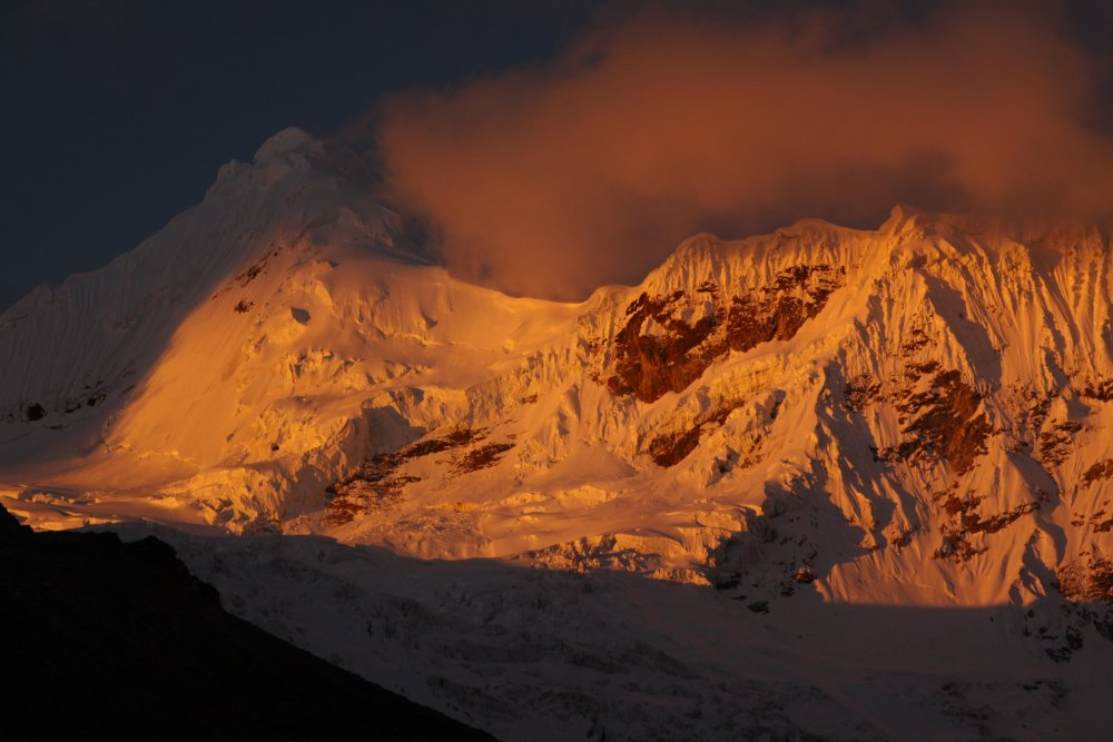 Sunset over the Peruvian Andes