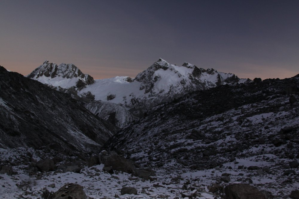Just before sunrise - Cordillera Blanca Peru