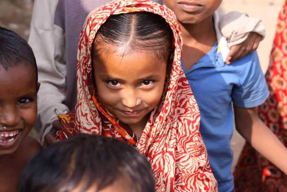 Girl in slums of Dhaka