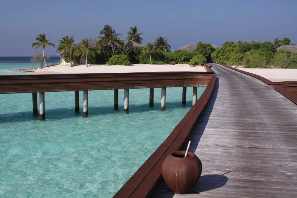 Beautiful dock & Island, Maldives