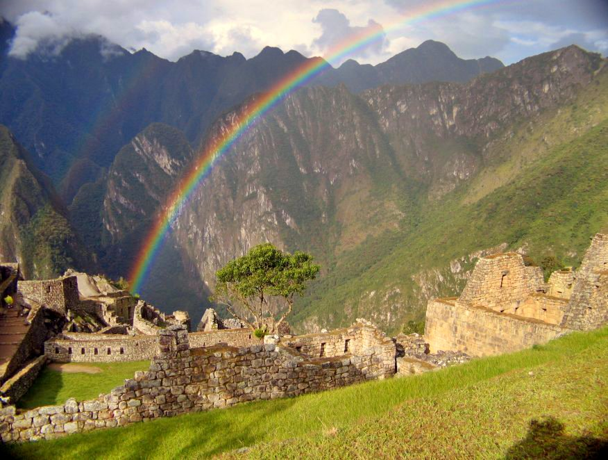 Rainbow over Machu Picchu Peru
