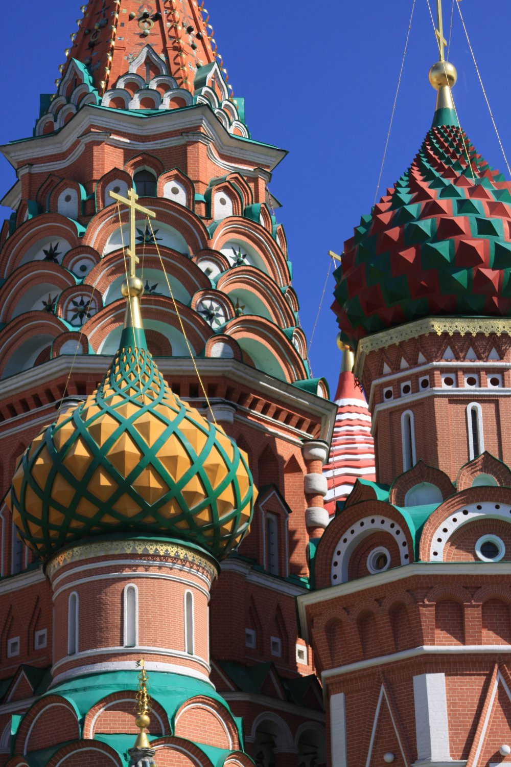 The beautiful domes above Red Square Moscow