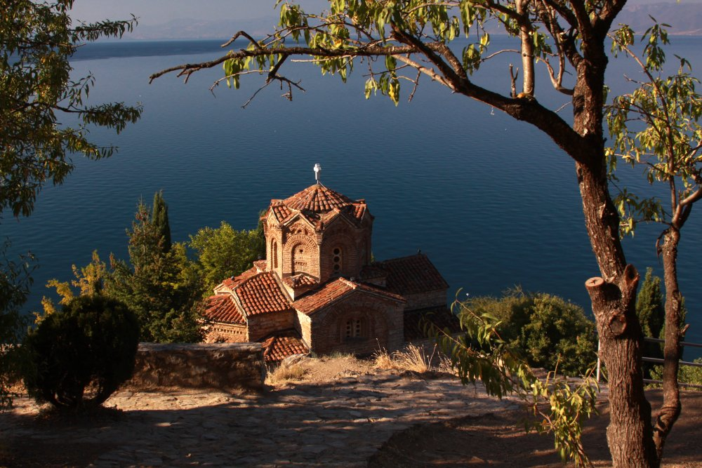 St John Church overlooking Lake Ohrid, Macedonia