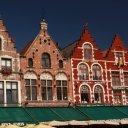 Beautiful buildings Bruges Belgium