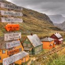 Signs above the Train in Flam Norway