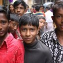 Children in the streets of Dhaka