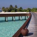 Beautiful dock & Island, Maldives