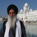Sikh in Amritsar India at the Golden Temple