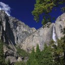 Waterfall in Yosemite National Park California