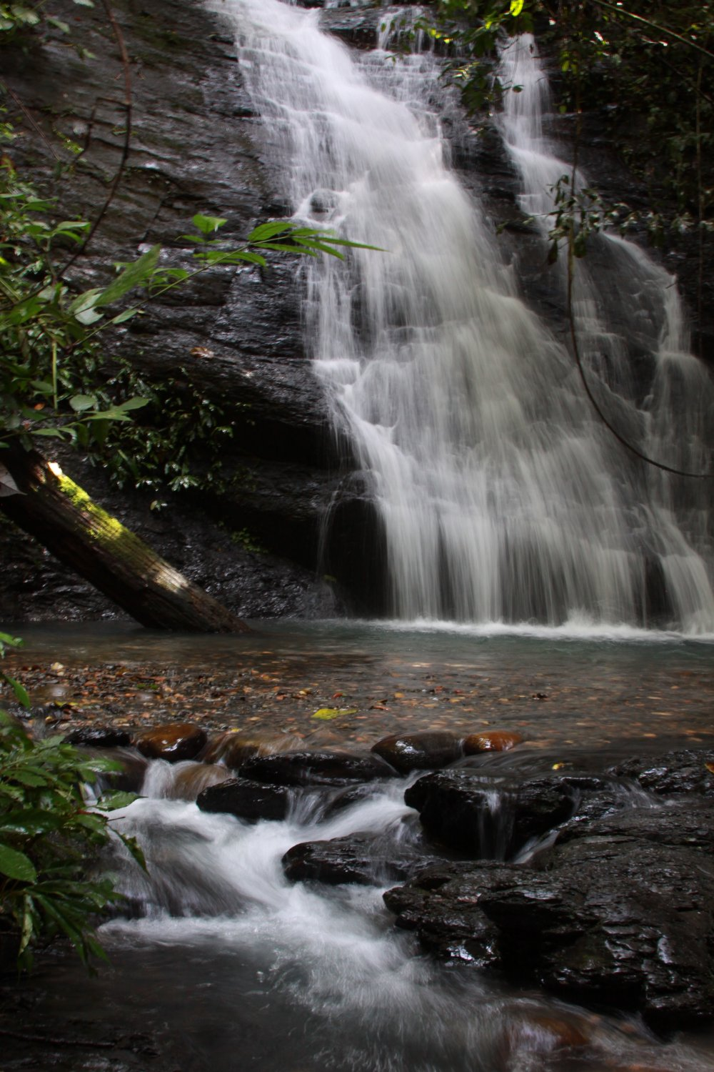 Waterfall in jungles of Brunei