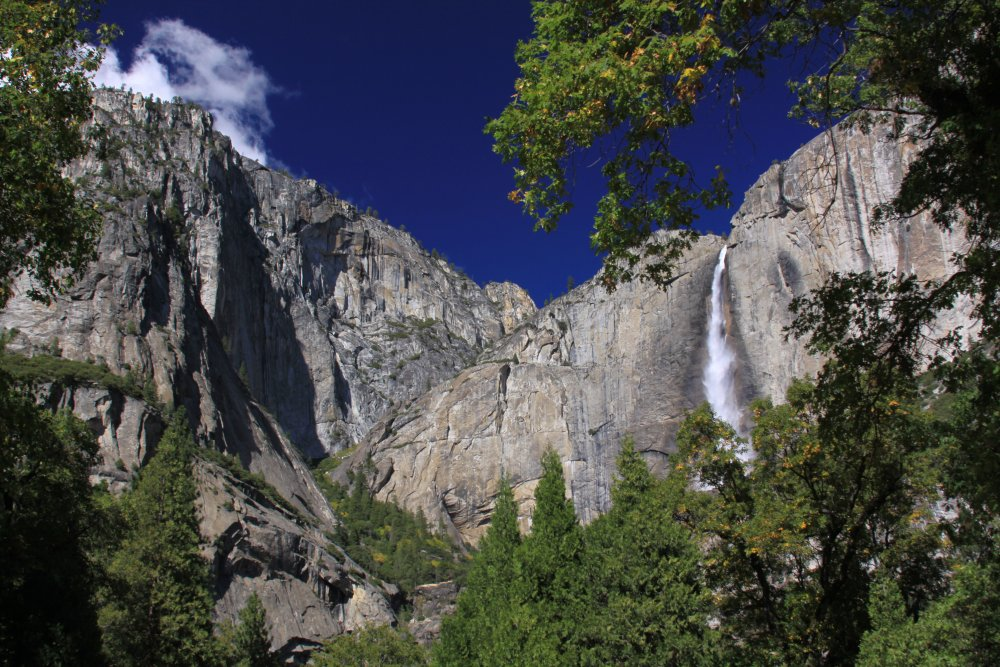 Waterfall in Yosemite National Park California