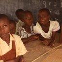 School-children-posing-for-pictures-in-rural-Ghana