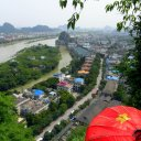 Guilin city view from DeiCai Hill