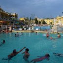 The Szechenyi Thermal Baths in Budapest Hungary