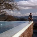 Hanging out at a friends house, edge of Infinity pool, Napa Valley