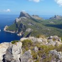 The rugged coastline of Mallorca