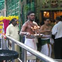 Tamil Hindus make up a significant minority in Malaysia and their temples dot the country, as this one where everyone is caught up in the middle of an early morning worship