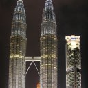 Night view of the Petronas Towers
