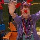 Happy during Mardis Gras in Biloxi