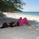 Woman near White Beach, Mindoro Island
