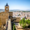 Wall and tower of Alcazaba, Antequera, Spain