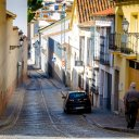 Typical side street in Antequera, Spain