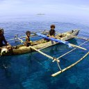 traditional boat in Raja Ampat