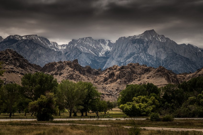 View  of Mt. Whitney from near Lone Pine