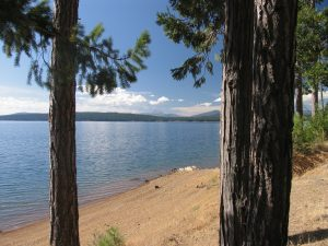 Lake Almanor with Mt. Lassen in the distant background