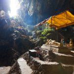 Reclining Buddha statue in Tham Phu Kham cave, Vang Vieng, Laos