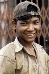 Smiling Cambodian Man