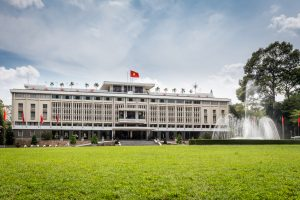 Reunification Palace, landmark in Ho Chi Minh City, Vietnam.