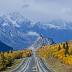 Heading towards Lion's Head along the Glenn Highway during the fall in Alaska