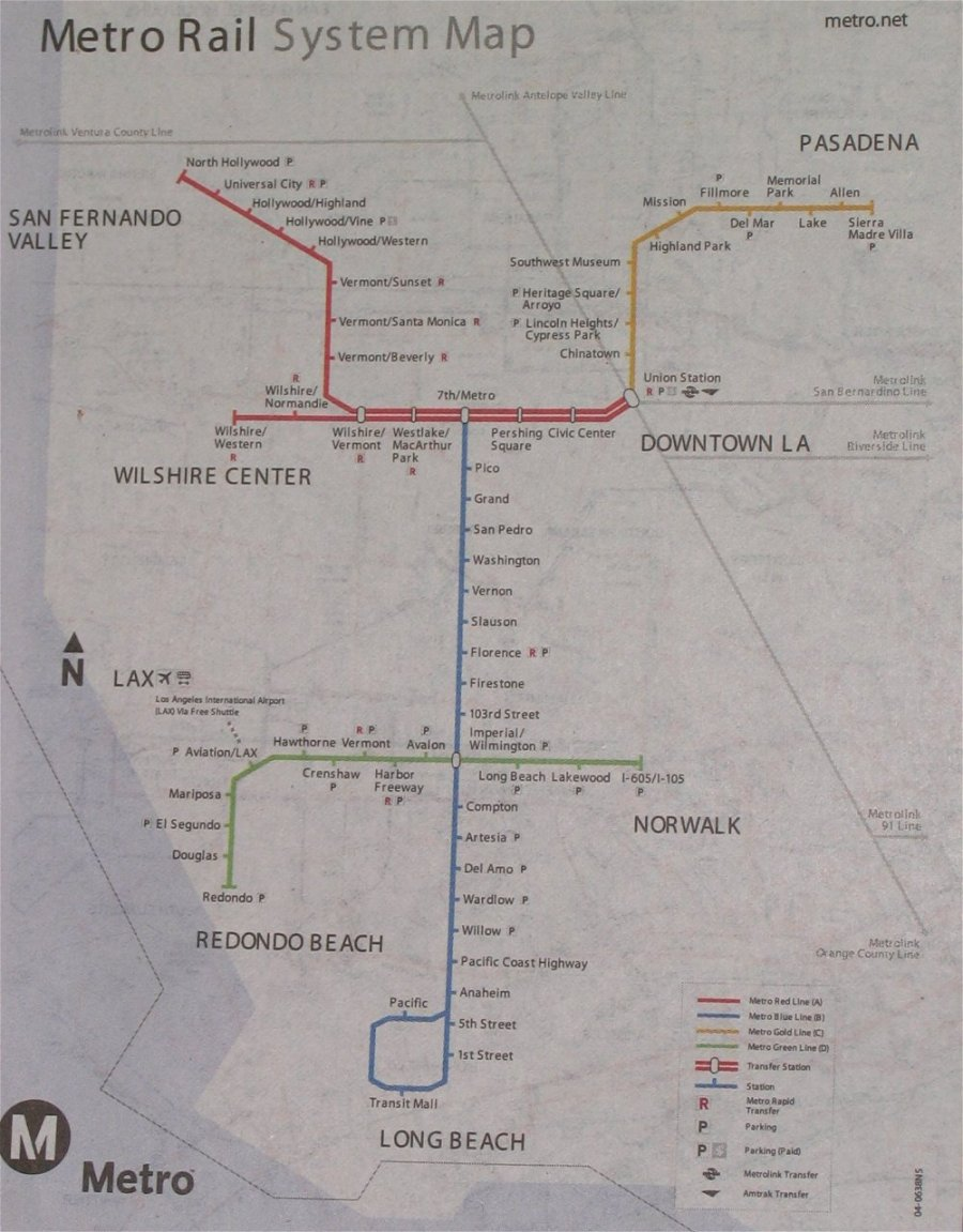 Guides Los Angeles CA Public Transport Daves Travel Corner - Los angeles ventura map