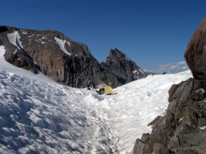 Snow gulley at Camp Muir