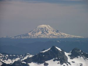 Mt. Adams as seen from the slopes of Mt. Rainier